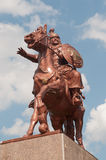 Monumento de Khan Asparukh en Strelcha Bulgaria Imágenes de archivo libres de regalías