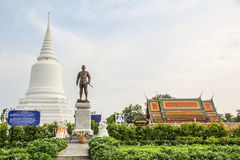 Monumento de Khun Khang Lhek em Wat Wang Temple, Phatthalung, Thaila Fotos de Stock Royalty Free