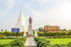 Monumento de Khun Khang Lhek em Wat Wang Temple, Phatthalung, Thaila Foto de Stock