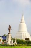 Monumento de Khun Khang Lhek en Wat Wang Temple, Phatthalung, Thaila Imagen de archivo