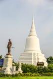 Monumento de Khun Khang Lhek en Wat Wang Temple, Phatthalung, Thaila Foto de archivo libre de regalías
