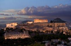Monumento de la acrópolis en Grecia Imagen de archivo
