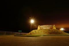 Monumento de la arcada del camino del río Great Platte imagenes de archivo