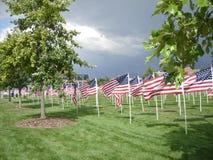 9/11 monumento de la bandera Imagenes de archivo