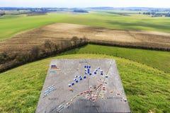 Monumento de la batalla de Waterloo Fotos de archivo libres de regalías