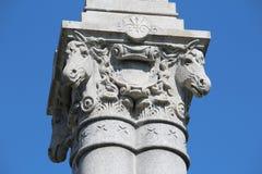 Monumento de la brigada del Calvary de Gettysburg - de Michigan - guerra civil americana imagen de archivo libre de regalías