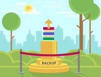 Monumento de la copia de seguridad de datos Fotografía de archivo libre de regalías