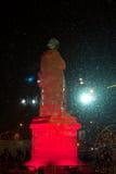 Monumento de la escultura de hielo Fotos de archivo