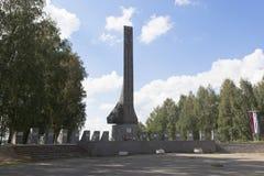 Monumento de la gloria en la ciudad de Veliky Ustyug en la región de Vologda Fotos de archivo