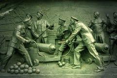 Monumento de la guerra crimea del detalle. Sebastopol Imagen de archivo