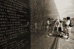 Monumento de la guerra de Vietnam Fotos de archivo libres de regalías