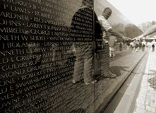 Monumento de la guerra de Vietnam Fotografía de archivo libre de regalías