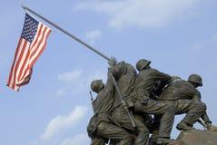 Monumento de la guerra del Cuerpo del Marines de los E.E.U.U. Fotografía de archivo