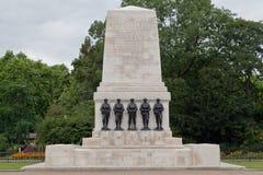 Monumento de la guerra en el parque Londres de San Jaime Imágenes de archivo libres de regalías