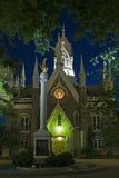 Monumento de la iglesia mormónica y de la gaviota imagen de archivo libre de regalías