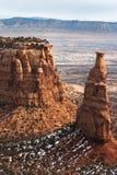 Monumento de la independencia en el monumento nacional de Colorado Fotografía de archivo libre de regalías