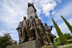 Monumento de la independencia en Vlore, Albania Fotos de archivo libres de regalías