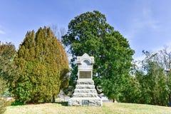 Monumento de la infantería del voluntario de Pennsylvania - Fredericksburg, Virgi Imágenes de archivo libres de regalías