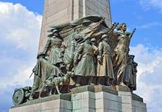 Monumento de la infantería en Bruselas, Bélgica Imágenes de archivo libres de regalías