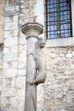 Monumento de la leona, símbolo de la ciudad de Girona, Cataluña, España fotografía de archivo