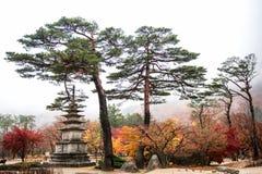 Monumento de la pagoda de Sinheungsa Imagenes de archivo