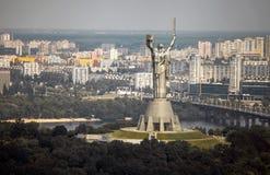 Monumento de la patria de la madre en Kiev, Ucrania Imagenes de archivo