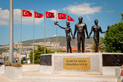 Monumento de la paz de Ataturk Imagen de archivo libre de regalías