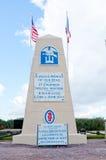 Monumento de la playa de Utah para la 1ra brigada de Special del ingeniero Imagen de archivo libre de regalías