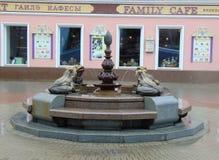 Monumento de la rana Fotos de archivo