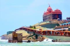 Monumento de la roca de Vivekananda Imagen de archivo libre de regalías