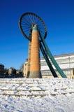 Monumento de la rueda de los mineros de Radstock Fotografía de archivo