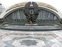 Monumento de la Segunda Guerra Mundial en Asjabad imágenes de archivo libres de regalías