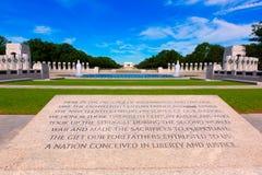 Monumento de la Segunda Guerra Mundial en Washington DC LOS E.E.U.U. Foto de archivo libre de regalías