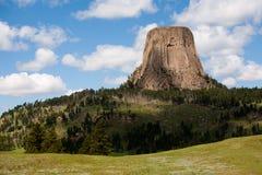 Monumento de la torre del diablo fotografía de archivo libre de regalías