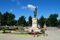 Monumento de la yegua de Stefan cel foto de archivo
