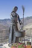 Monumento de las brujas en Triora Foto de archivo libre de regalías