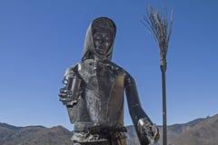 Monumento de las brujas en Triora Imagen de archivo