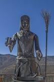 Monumento de las brujas en Triora Fotos de archivo libres de regalías