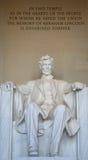 Monumento de Lincoln Fotografía de archivo libre de regalías