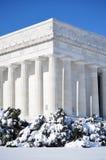 Monumento de Lincoln en nieve Fotografía de archivo libre de regalías