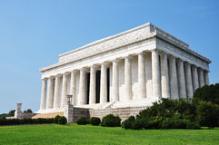 Monumento de Lincoln en Washington Foto de archivo