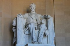 Monumento de Lincoln en Washington DC Imagen de archivo libre de regalías