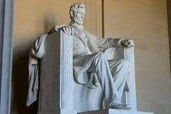 Monumento de Lincoln en Washington DC Imagenes de archivo