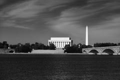 Monumento de Lincoln a través del Patomic Fotografía de archivo