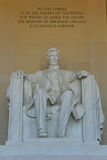 Monumento de Lincoln, Washington, C.C. Fotos de archivo