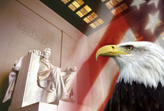 Monumento de Lincoln - Washington DC Fotografía de archivo