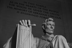 Monumento de Lincoln, Washington DC Fotografía de archivo