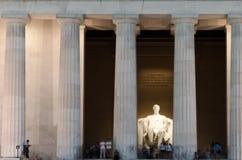 Monumento de Lincoln, Washington DC los E.E.U.U. Imagen de archivo libre de regalías