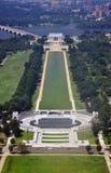 Monumento de Lincoln y monumento de la guerra mundial Fotos de archivo libres de regalías