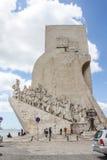 Monumento de los descubrimientos a los marineros Imagen de archivo libre de regalías